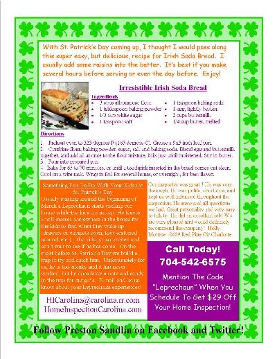 Irish Soda Bread Flyer