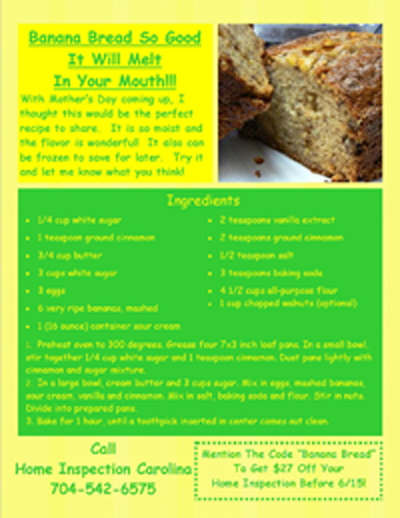 Banana Bread Flyer
