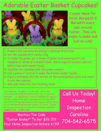 Easter Basket Cupcakes Flyer