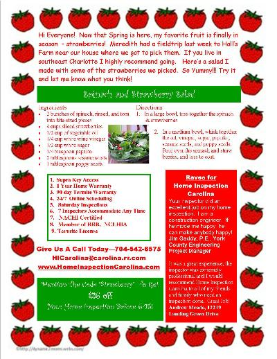 Strawberry Salad Flyer